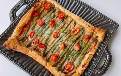 Spring Asparagus-Parmesan Tart