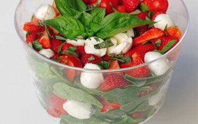Fresh Mozzarella-Strawberry Caprese Salad